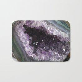 Amethyst Crystal Geode Sphere Bath Mat