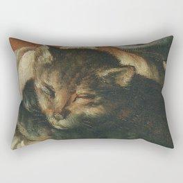Cat in the art – Vermeyen- holy family - detail Rectangular Pillow