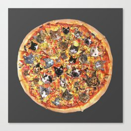 If the internet was a pizza... Canvas Print