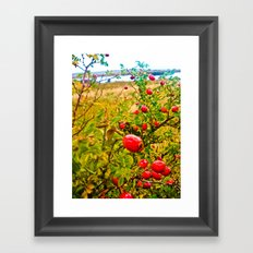 Nature red and green. Framed Art Print