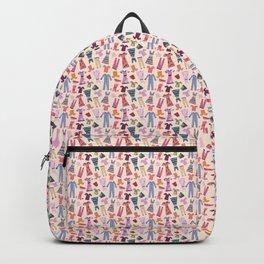 Dress Papercut Pattern - baby Yellow Backpack