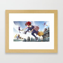 Kiki's Logistics Framed Art Print