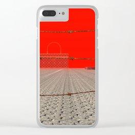 Squared: Curtain Clear iPhone Case