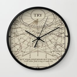 """Find A Way or Make One"" Wall Clock"
