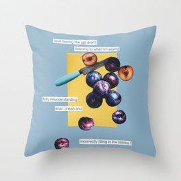 nice plums Throw Pillow