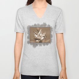Double Asiatic Lily named Double Pleasure Unisex V-Neck