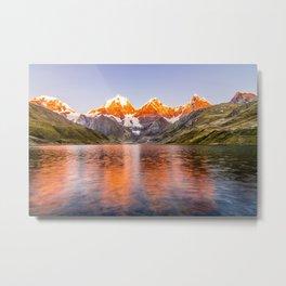 Mountains on Fire Metal Print