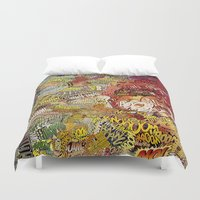 superheros Duvet Covers featuring BoooM by MelissaMoffatCollage