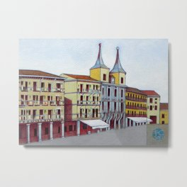 Postcard from Plaza Mayor, Segovia, Spain Metal Print