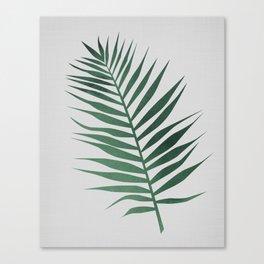 Watrcolor Palm Leaf Canvas Print