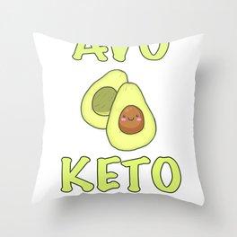 Avocado Keto Diabetes  graphic Throw Pillow