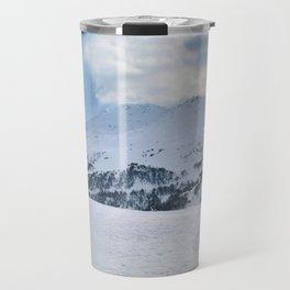 Ski Resort Mountain Landscape Travel Mug