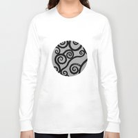 dublin Long Sleeve T-shirts featuring Spirals - pieces of Dublin by Arianna Sulpizi