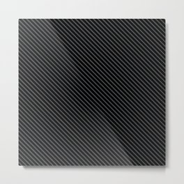 Dark Shadow and Black Stripe Metal Print