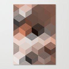 CUBE 2 BROWN Canvas Print