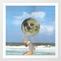 Little Luna At The Beach Art Print
