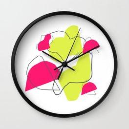 Deconstructed Blobs Art Print Wall Clock