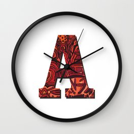 A Letter Wall Clock