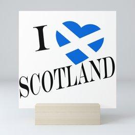 I Heartflag Scotland Black Mini Art Print