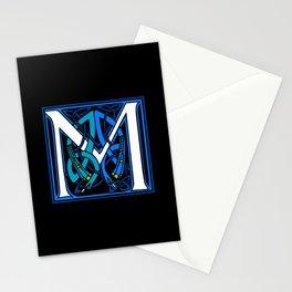 Celtic Peacocks Letter M Stationery Cards