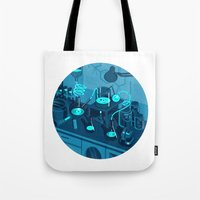 lab Tote Bags featuring The Lab by Jason Solo