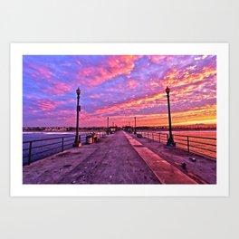 Sunrise Huntington Beach Pier   11/12/13 Art Print
