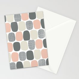 Wonky Ovals in Pink Stationery Cards