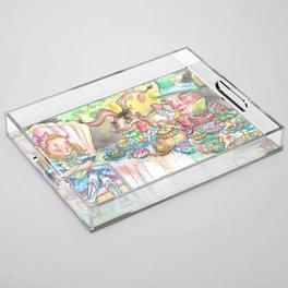 Alice's Mad Tea Party Acrylic Tray