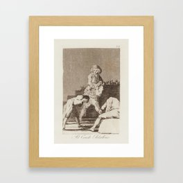 Francisco de Goya 1746 Fuendetodos – Bordeaux 1828  Al Conde Palatino  (To the Count Palatine) Framed Art Print