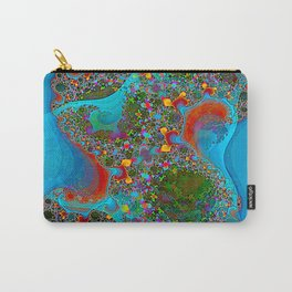 Abstract Topography Carry-All Pouch