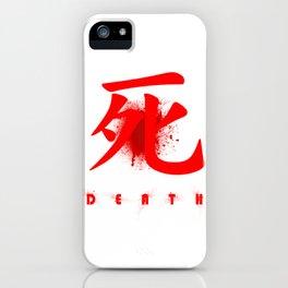 Death in Japanese Kanji iPhone Case
