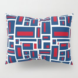 Modern Geometric in Red, White and Blue Pillow Sham