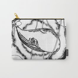 Space whale floating in space surreal illustration Carry-All Pouch