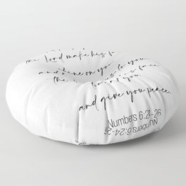The Lord Bless You  - Numbers 6:24-26 Floor Pillow