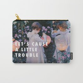 John Singer Sargent, Carnation, Lily, Lily, Rose (c.1885) / Halsey, Trouble (2014) Carry-All Pouch
