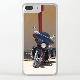 Motorcycle Parade Clear iPhone Case