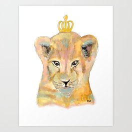 Born to be king Art Print