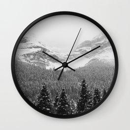 Jasper Blizzard   Alberta   Canada Wall Clock