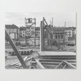 Construction site in the city Canvas Print