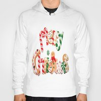 merry christmas Hoodies featuring MERRY CHRISTMAS by UDIN