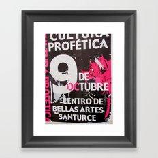 9 DE OCTUBRE Framed Art Print