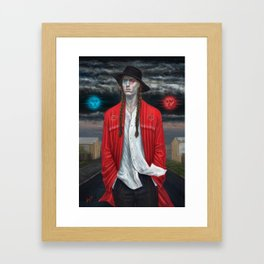 September (Moth Man) Framed Art Print