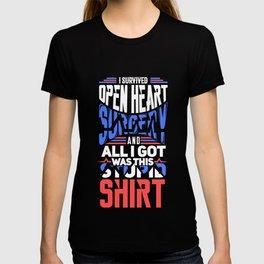 I Survived Open Heart Surgery Gift T-shirt