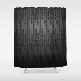 Eye of the Magpie tribal style pattern - dark grey Shower Curtain