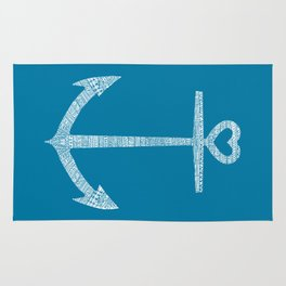 Love is the anchor Rug