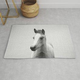 Baby Horse - Black & White Rug