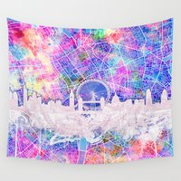 london Wall Tapestries featuring London by Bekim ART
