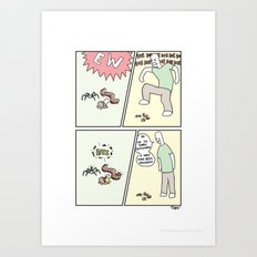 Bugs with Hats. Art Print