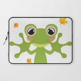 Little Frog Happy Autunm - Fall Begins Laptop Sleeve