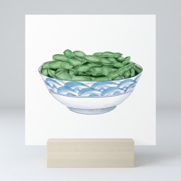 Boiled Green Soybeans | 盐水毛豆 Mini Art Print
